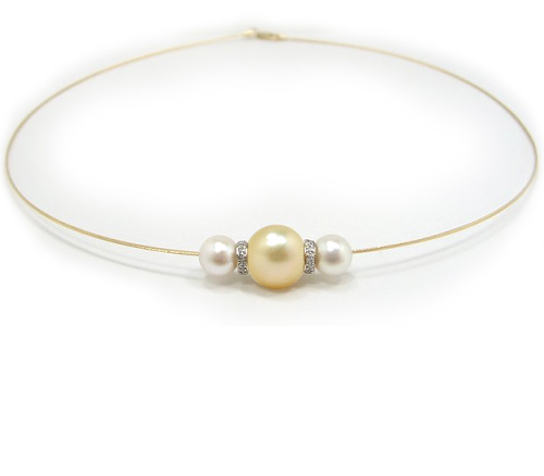 Solitaire Golden South Sea Pearl Necklace