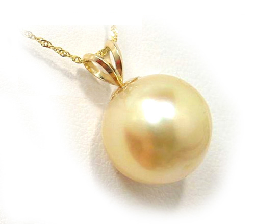 Golden south sea pearl pendant with rabbit ear bail classic golden golden south sea pearl pendant golden south sea pearls discount pearl jewelry aloadofball Image collections