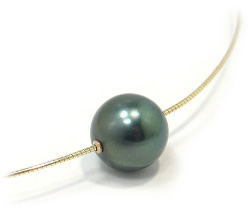 Tahitian Pearl Omega Necklace