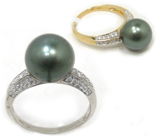 Tahitian pearl engagement rings is high of exotic art. Tahitian pearl engagement rings are a ring that uses a pearl that comes from the blue lagoon in French Polynesia