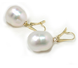 Leverback White South Sea Pearl Earrings