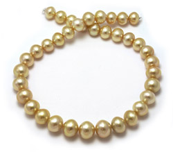 14mm Golden Pearl Necklace