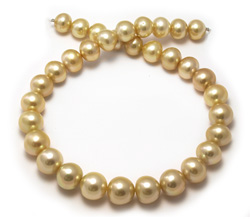 15mm Golden Pearl Necklace