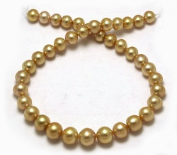Deep Golden Pearl Necklace