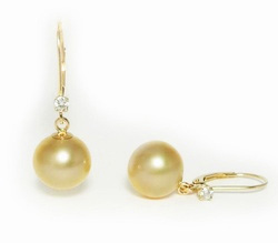 Golden South Sea Pearl Earrings