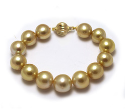 Intense Deep South Sea Pearl Bracelet