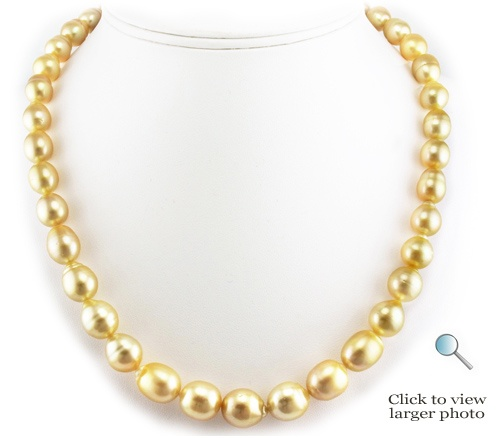 52a110b67 Medium-Deep Golden South Sea Pearl Necklace