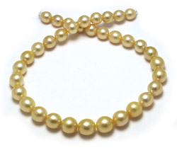 Oval Golden Pearl Necklace