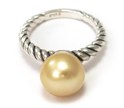 South Sea Gold Pearl Rings