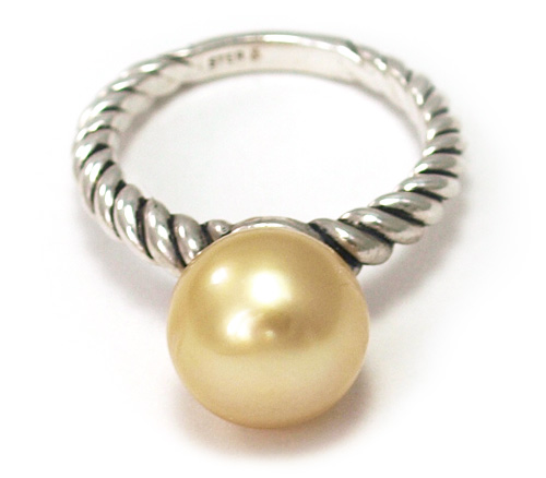 South Sea gold pearl ring