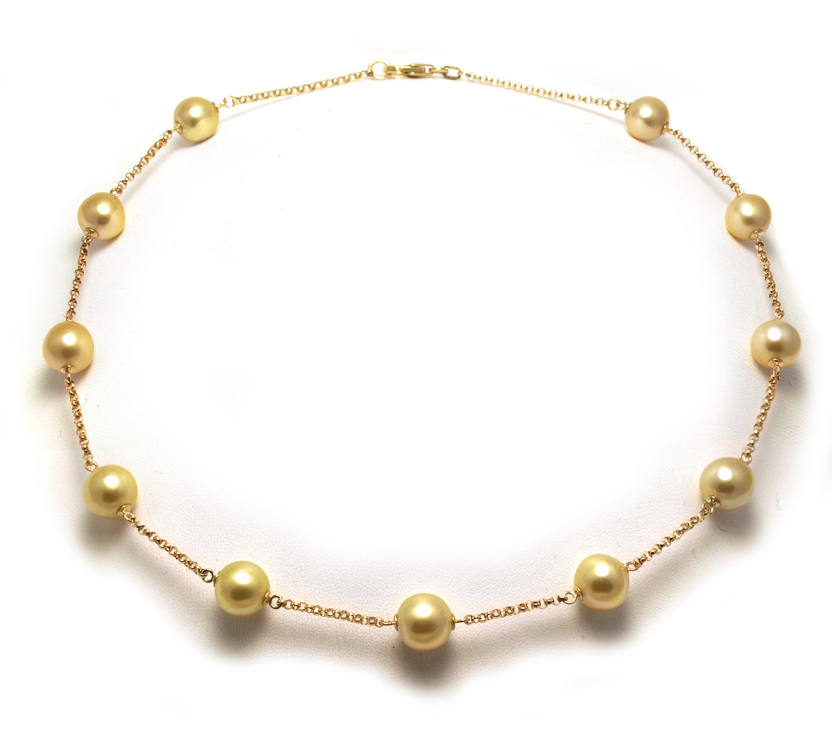 Tincup Golden South Sea Pearl Necklace Choice Of Pearl Sizes 14k White Or  Yellow Gold $895 And Up View Golden South Sea Pearl Necklace