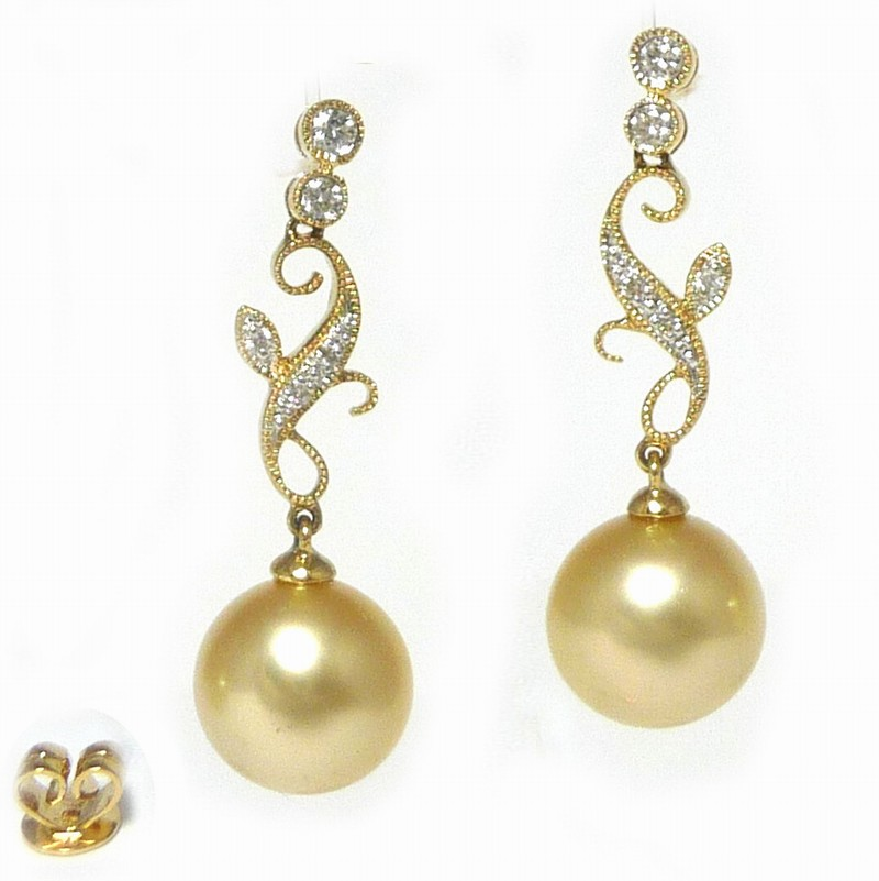 Golden South Sea Pearl Earrings Collection