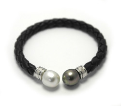 Contrast South Sea Pearl Cuff Bracelet