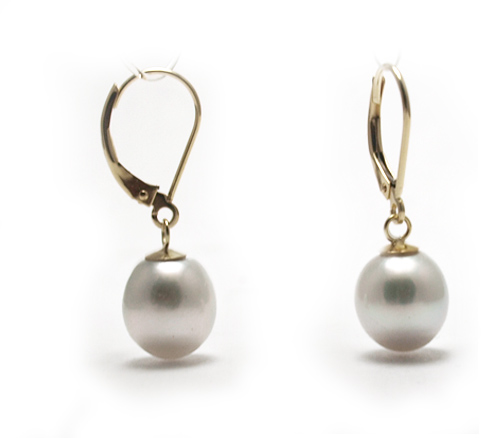 listing pearl modern drop earrings il minimalist arch long silver pearls white