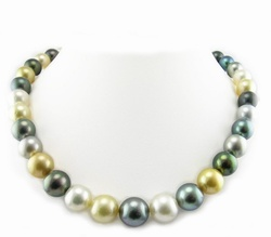 Pelosi South Sea Pearl and Tahitian Pearl Necklace