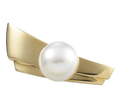 White South Sea Pearl Brooch