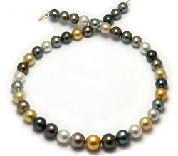 Multicolor South Sea and Tahitian Pearl Necklace