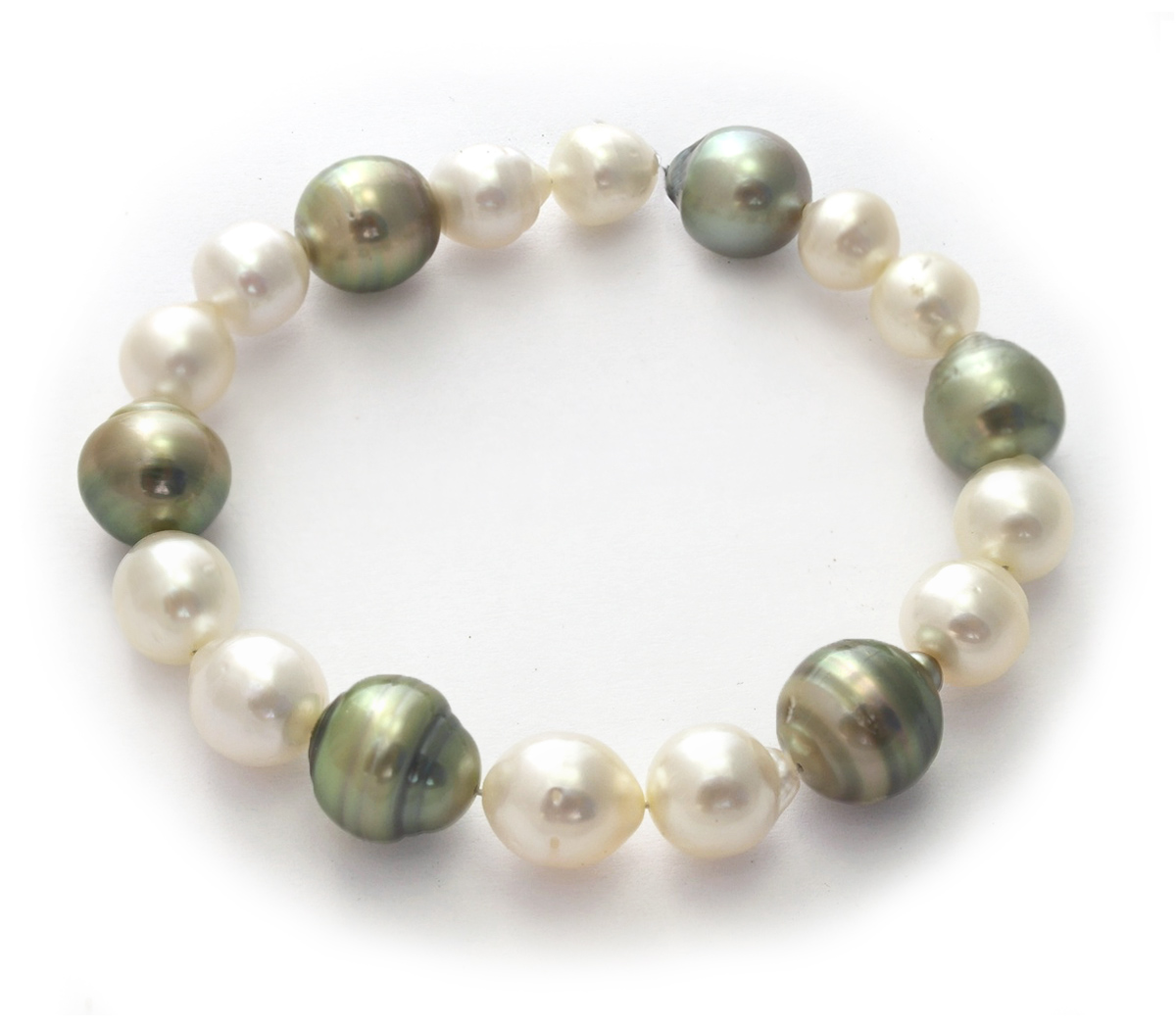 Pearl Stretch Bracelet Hover To Zoom