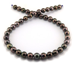 Aubergine Tahitian Pearl Necklace