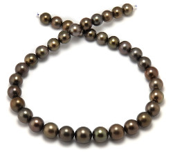 Chocolate Tahitian Pearl Necklace