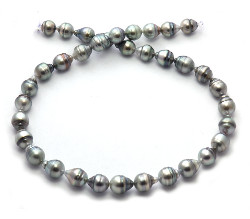Peacock/Purple Tahitian Pearl Necklace