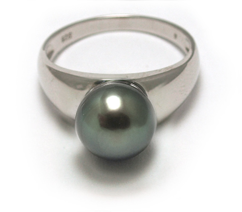 Tahitian Pearl Ring in Sterling Silver