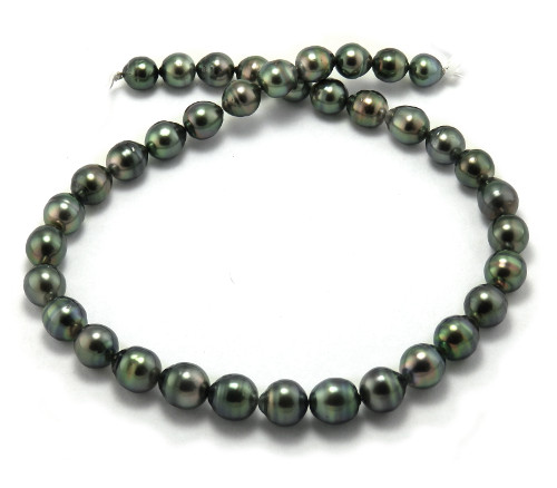 Green Peacock Tahitian Pearl Necklace