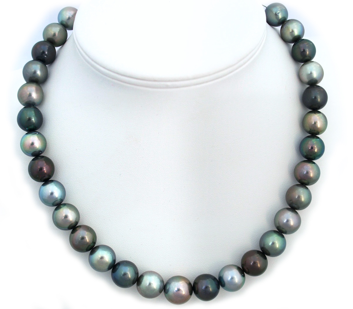 Multicolor Tahitian Pearl Necklace with Round 12-15mm ...