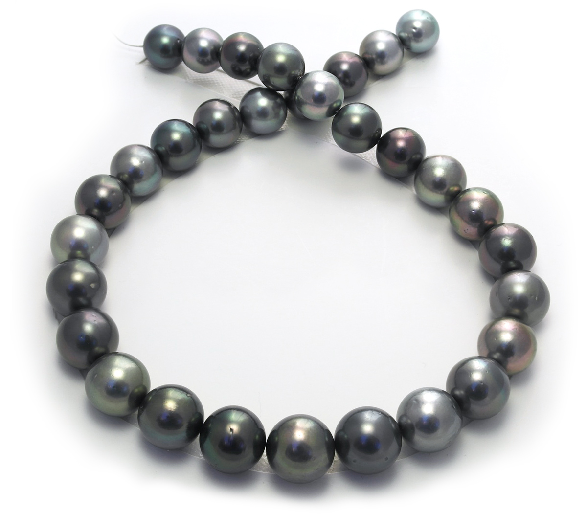 multicolor tahitian pearl necklace with 12 15mm