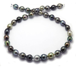 Multi Color Tahitian Pearl Necklace