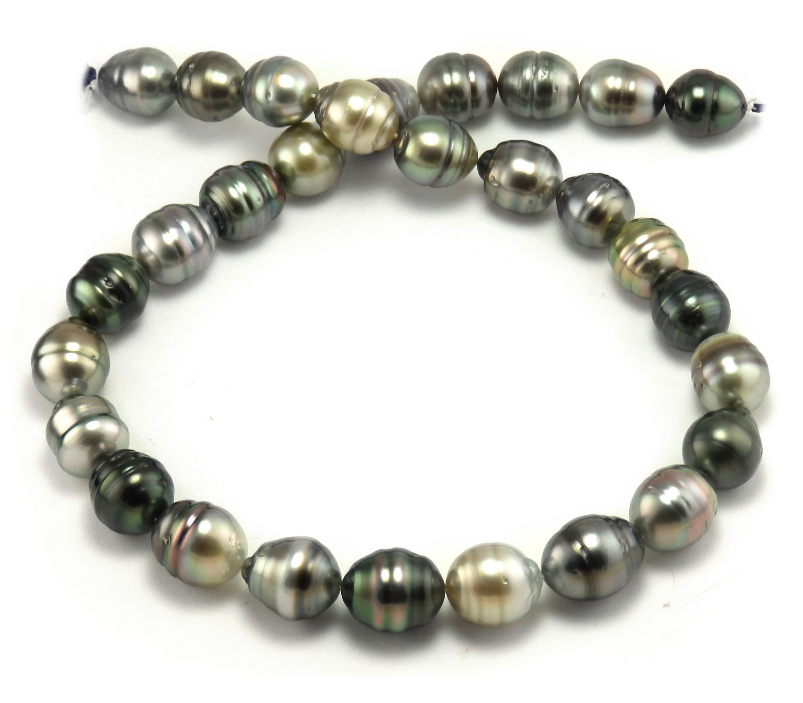 Multi Colored Tahitian Pearl Necklace with Semi Baroque ...