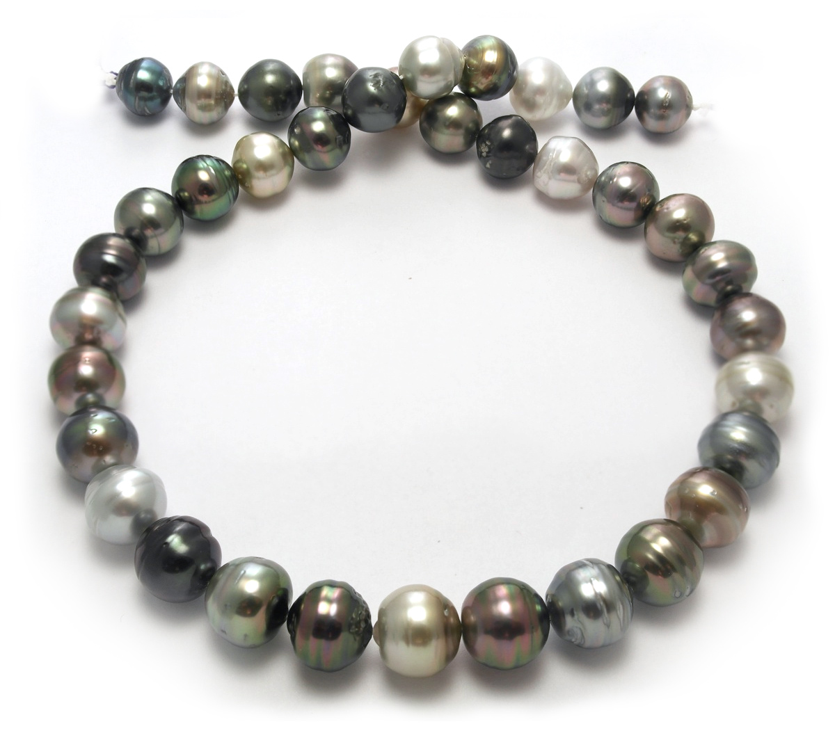 sale tahitian pearl necklace with steely gray tahitian