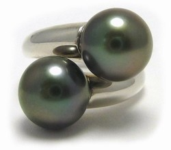Tahitian Pearl Bypass  Ring