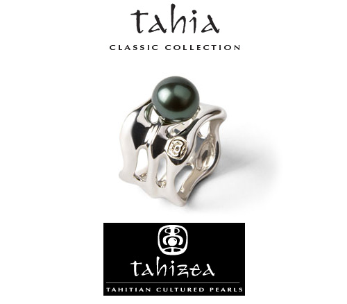 Tahitian Pearl Rings in Sterling Silver